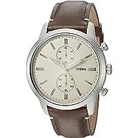 Fossil Townsman Brown Stainless Steel & Calfskin Watch FS5350