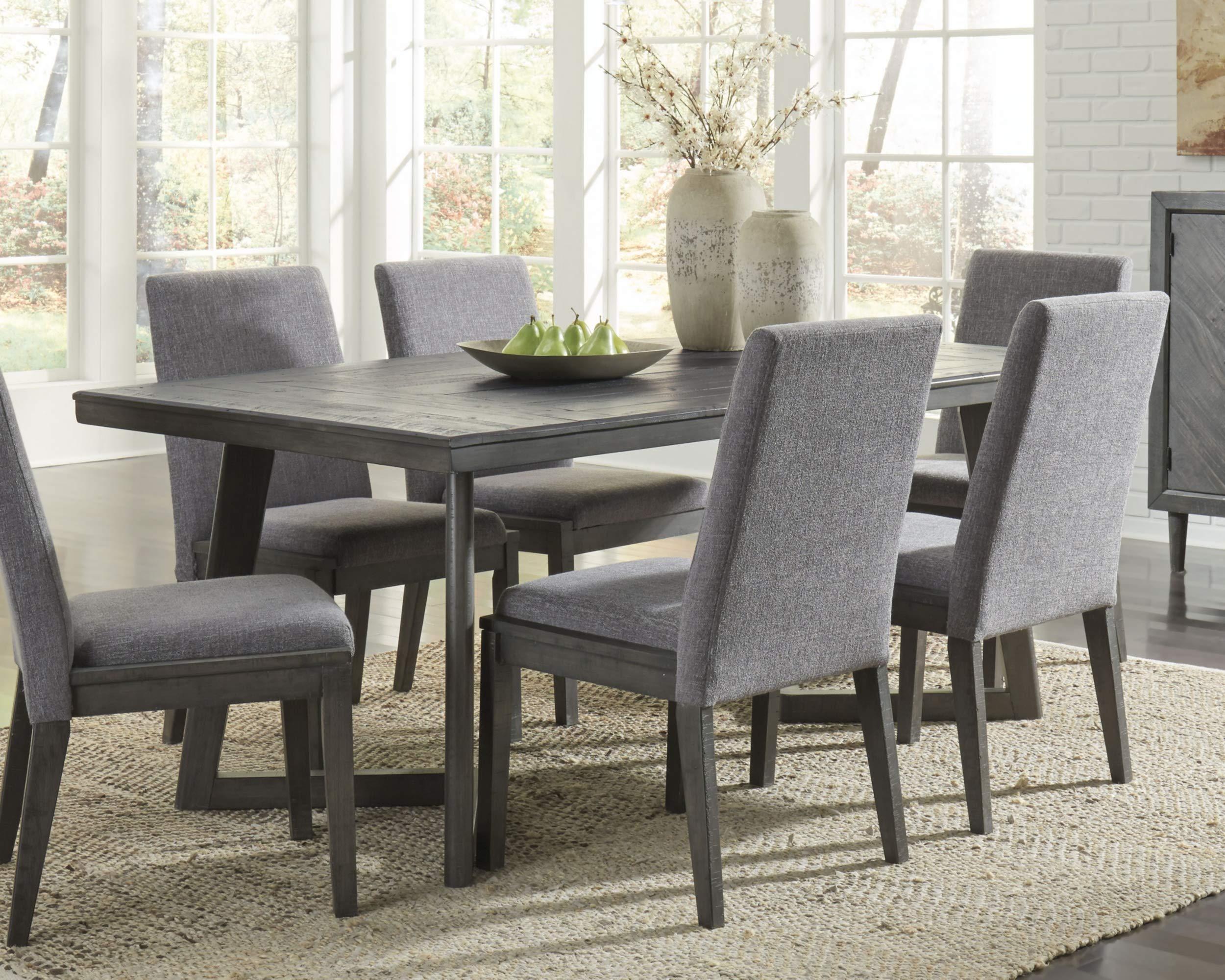 Signature Design By Ashley - Besteneer Rectangular Dining Room Table - Contemporary Style - Dark Gray by Signature Design by Ashley