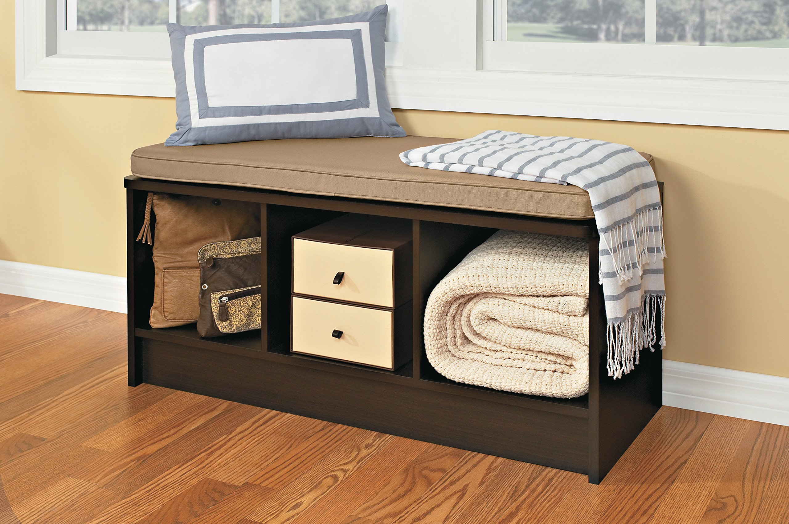 ClosetMaid 1570 Cubeicals 3 Cube Storage Bench, Espresso   1570 U003c Storage  Benches U003c Home U0026 Kitchen   TIBS