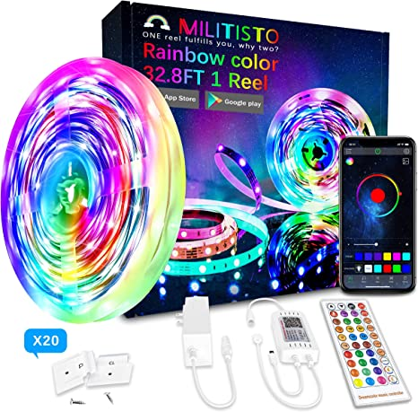 Govee WiFi Wireless Smart Phone Contro Dreamcolor 32.8FT LED Strip Lights RGBIC