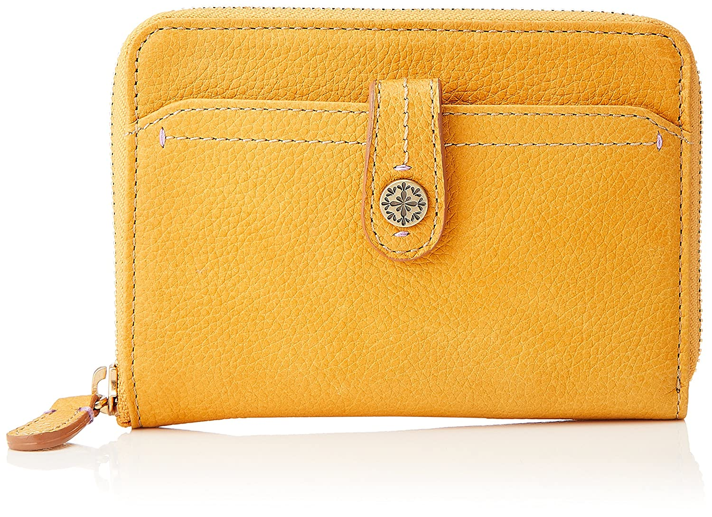 [ボックス21] 折財布 「ミモザ」ラウンドファスナー型折財布 0331511 B078J9C6LF マスタード マスタード