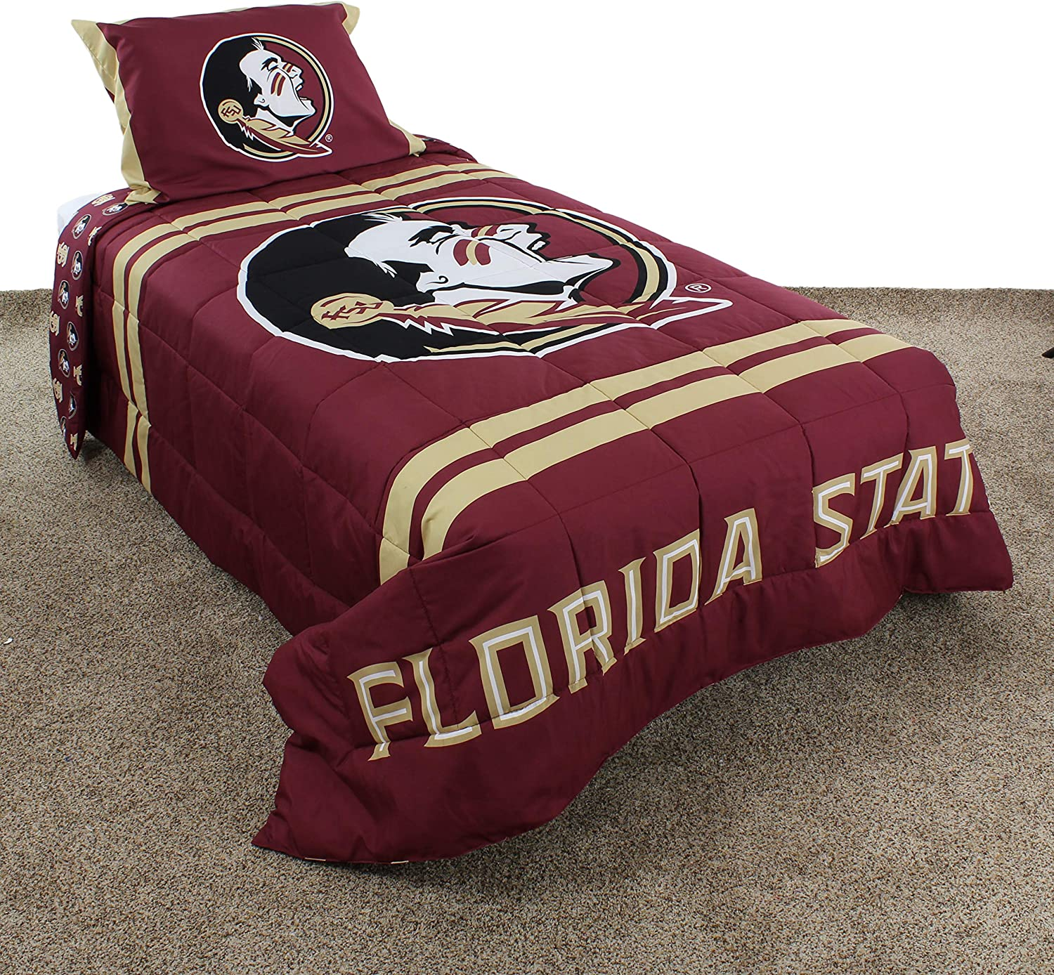 College Covers Florida State Seminoles Comforter Set Full Team Color