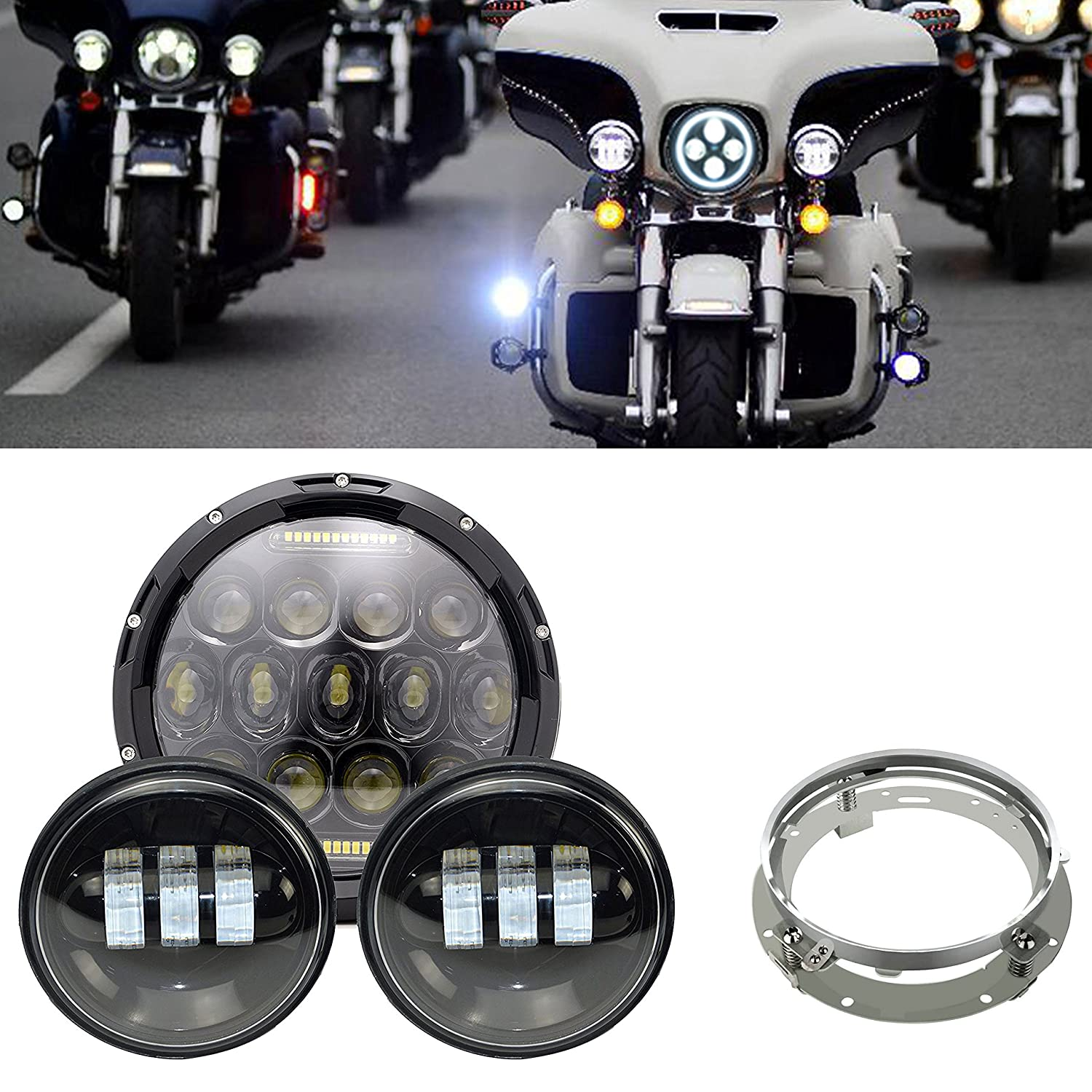Daymaker Replace 7inch Led Headlight Motorcycle Harley Davidson Road