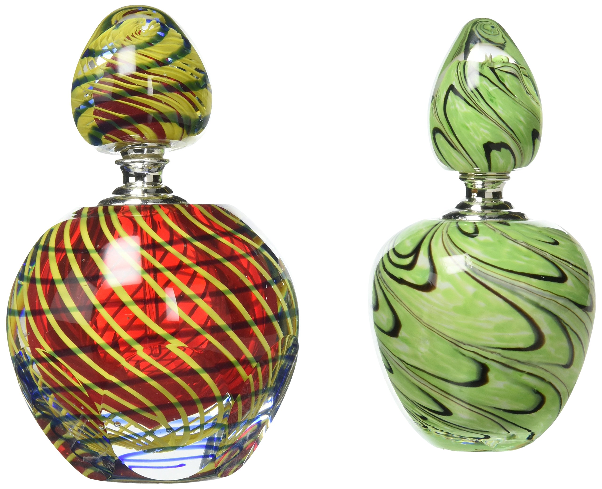 Dale Tiffany 2-Piece Swirl Perfume Bottle Set