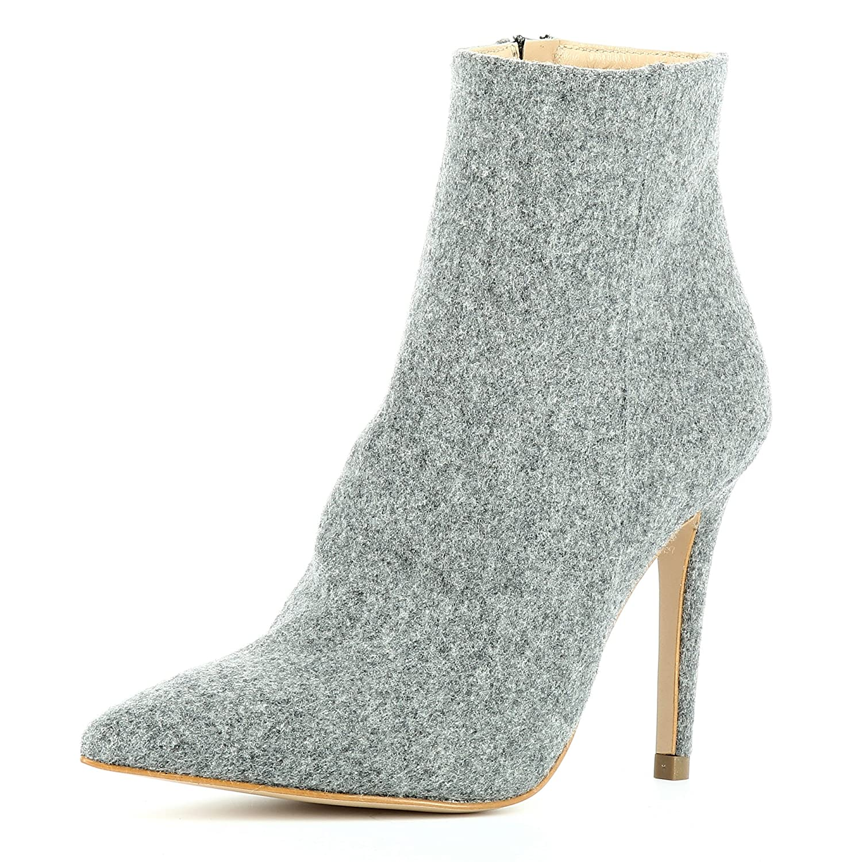 Evita Shoes Alina 16834 Bottines Femme Feutre Alina Gris Gris 0673675 - latesttechnology.space