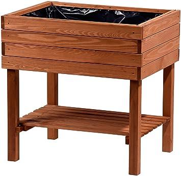 Dobar Breites Hochbeet Aus Holz Mit Ablageboden Fruhbeet Bausatz