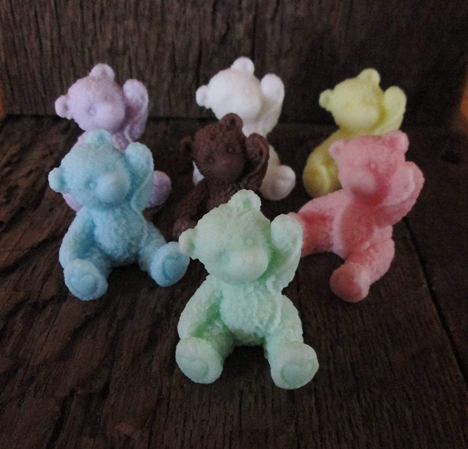 BABY SHOWER TEDDIES  //GIFT BAGS// FAVOURS BABY POWDER HANDMADE SOAPS {20}