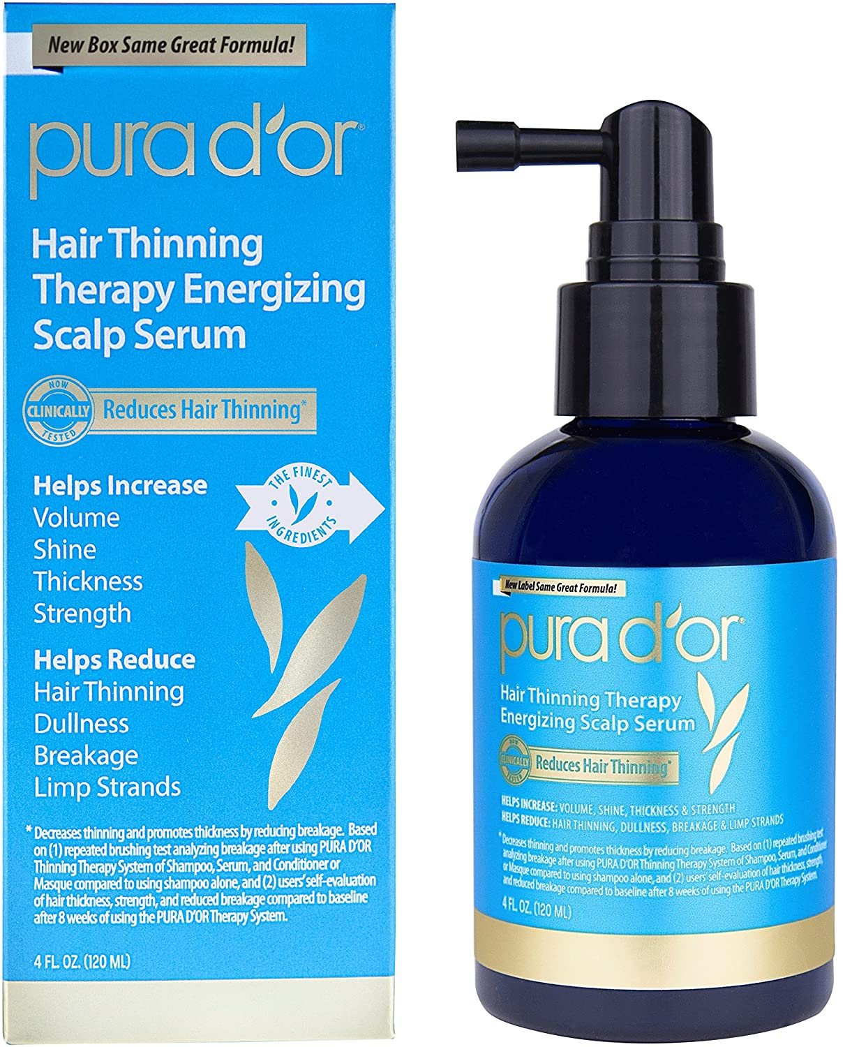 PURA D'OR Hair Loss Prevention Therapy Energizing Scalp Serum, 4 Fluid Ounce PURA D'OR 851615006204