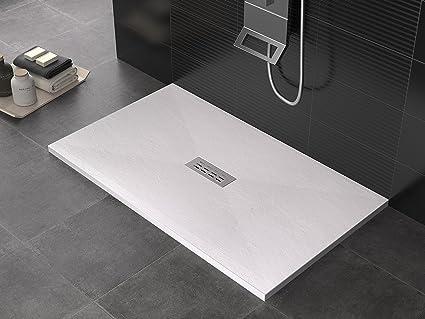 Olimpo docce pietra central piatto doccia in marmo resina minerale