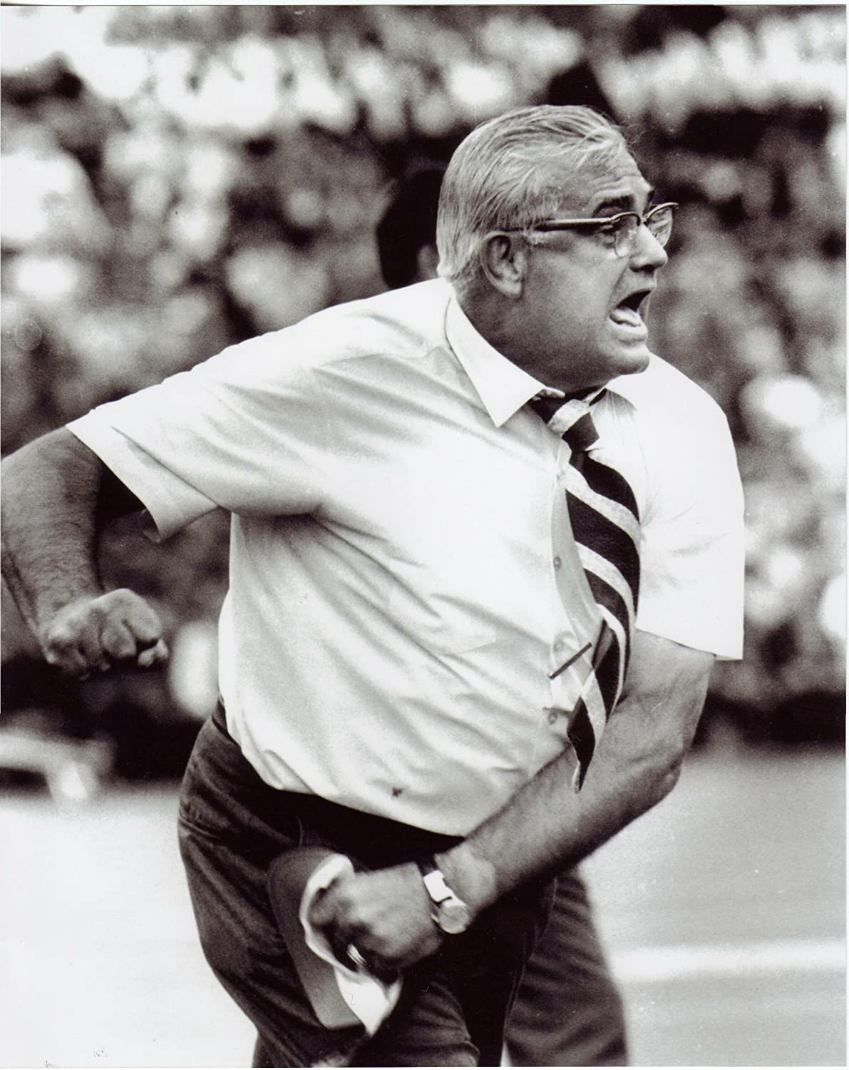 Woody Hayes (Mad as Hell) Vintage Ohio State Buckeyes 8x10 Photo - Mint Condition