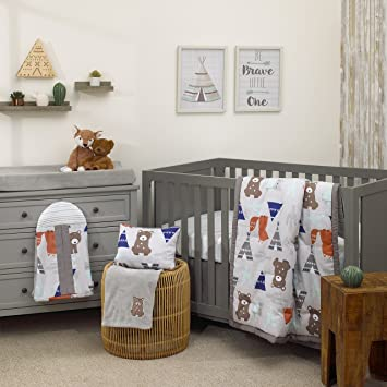 Nursery Bedding Lower Price with Large Woodland Animal Themed Cot Nappy Stacker