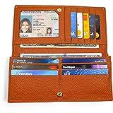 9ce54d5d1be Cartera para Mujer Bloqueo RFID con Gran Capacidad para Tarjetas – Billetera  para Dama muy Ligera
