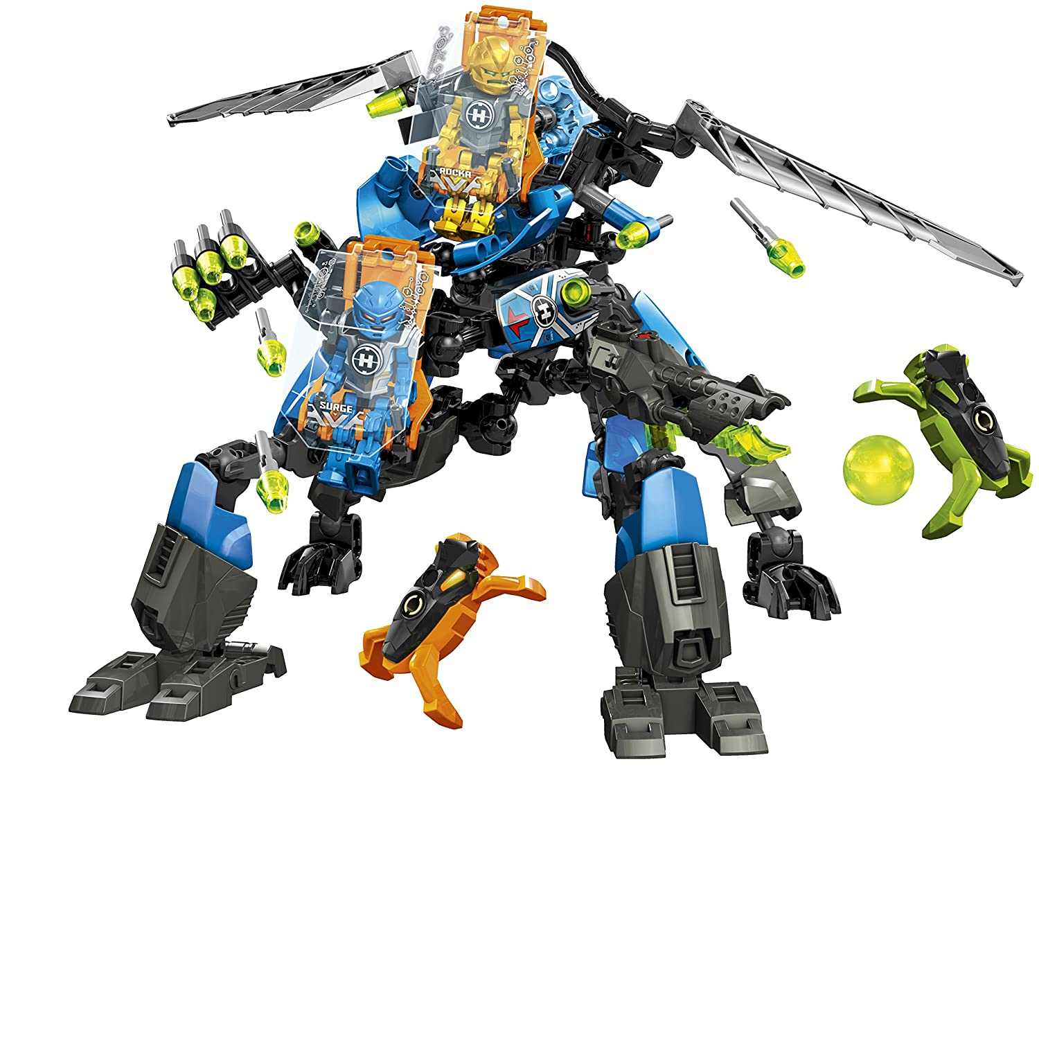 Amazon Lego Hero Factory Surge And Rocka Combat Machine 44028