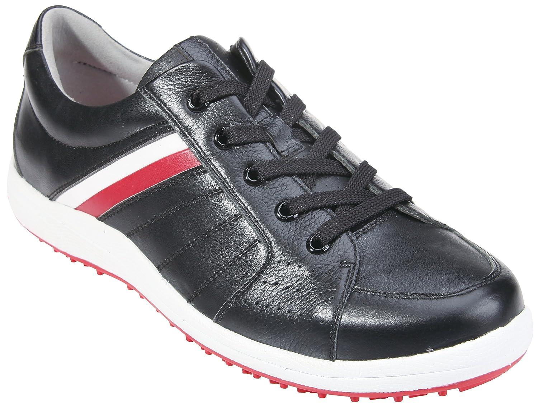 サウスポートメンズゴルフシューズスパイクsx0811 (ブラック/ホワイト/レッド, 8.5 )   B014J27DSG