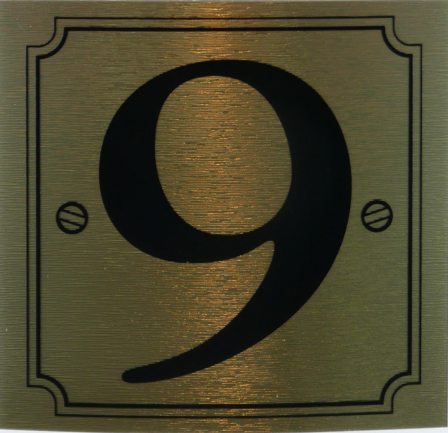 eCobbler Gold Stick On Door Numbers - Number 9