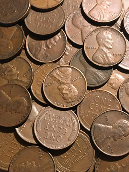 low mintage 1930 S Lincoln Wheat Cents 50 Full roll