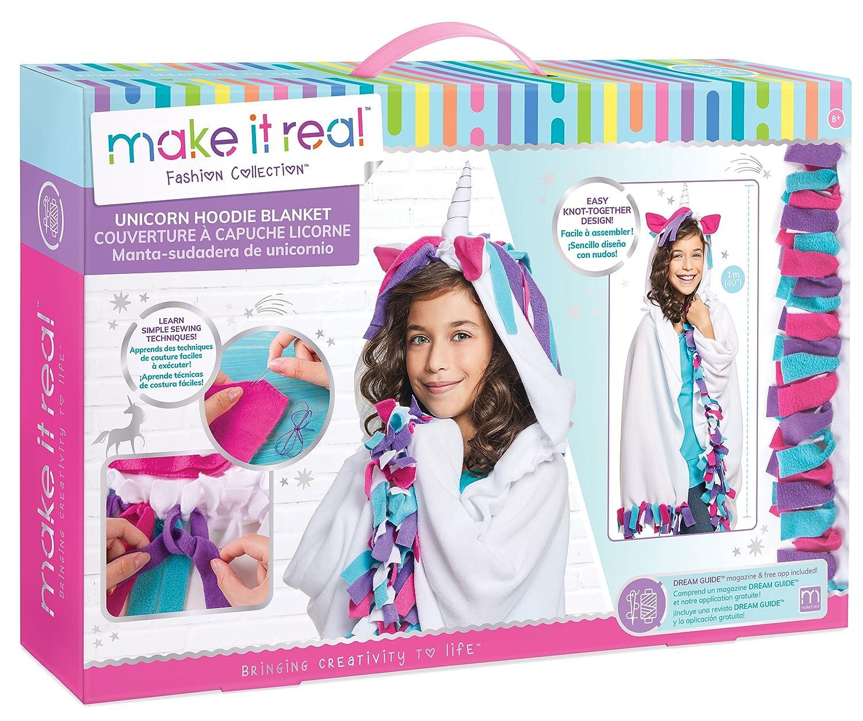 Amazon Com Make It Real Unicorn Hoodie Blanket Wearable Unicorn