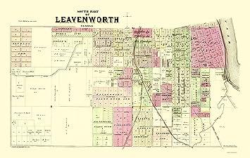 Amazon.com: Old City Map - Leavenworth, South, 2 Of 3 Kansas ...