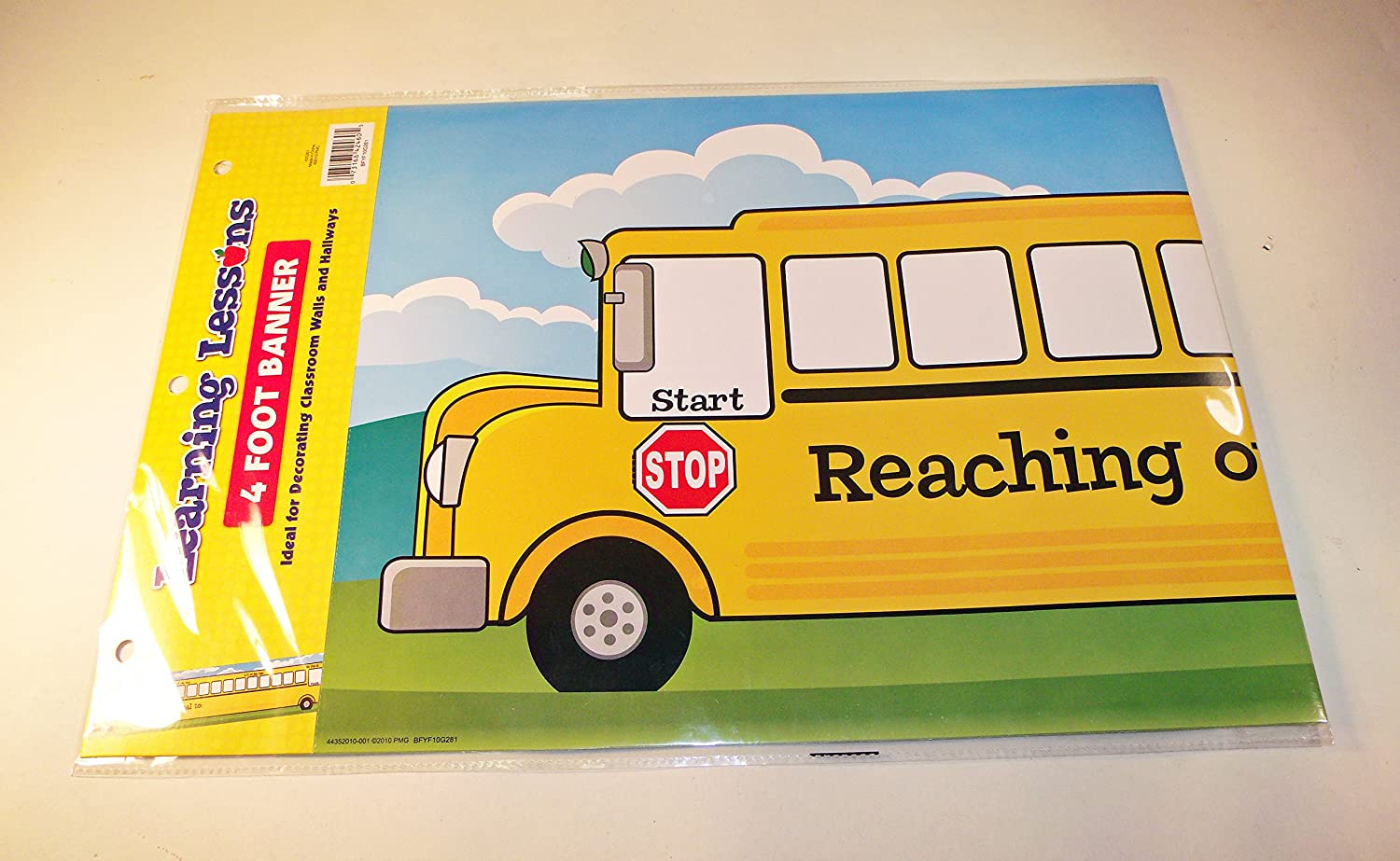 Learning Lessons School Bus Reaching Our Goal Horizontal 4 Foot Banner BFYF10G281