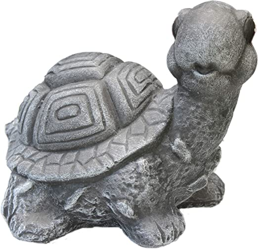 piedra Figura tortuga, Jardín Figura Figura de piedra fundido Animales Basalto Gris: Amazon.es: Jardín