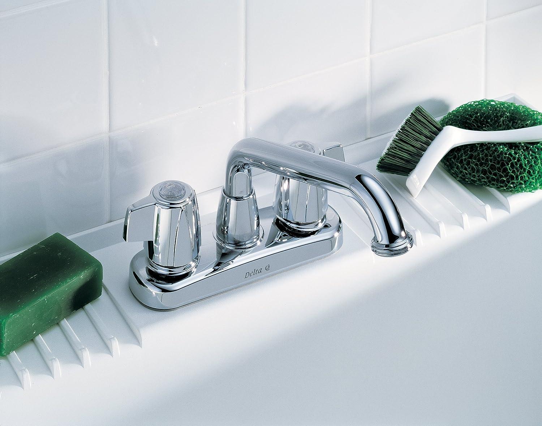 Delta 2121 Two Handle Laundry Faucet, Chrome - Utility Sink Faucets ...