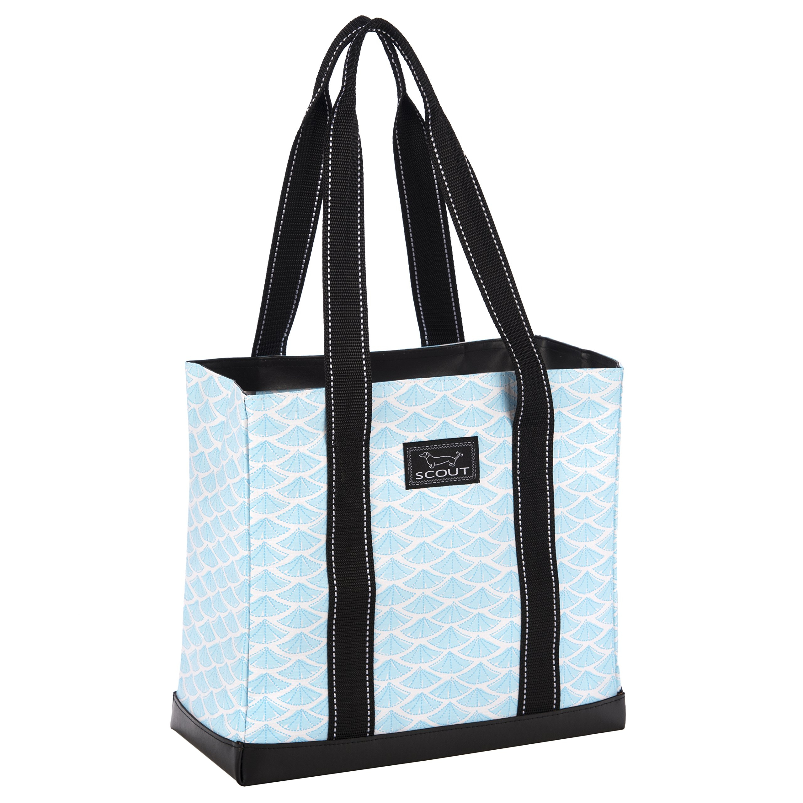 SCOUT Mini Deano Small Everyday Tote Bag, Folds Flat, Interior Zipper Pocket, Reinforced Bottom, Water Resistant, Swimfan