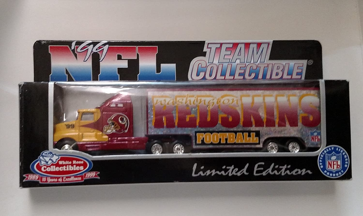 Washington Redskins 1999 NFL Tractor Trailer 1:80 Scale White Rose Collectibles