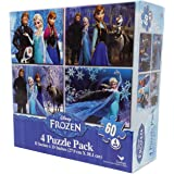 Frozen Puzzles, 60 Pieces, (4-Pack)