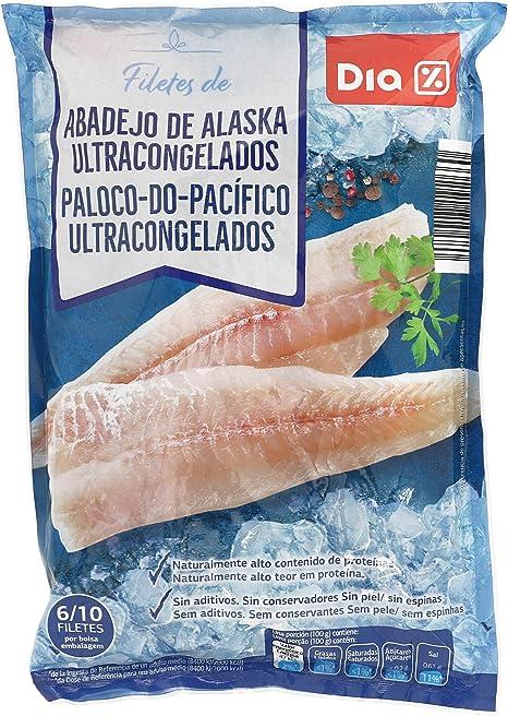 DIA filetes de abadejo de alaska 6/10 piezas bolsa 850 gr ...