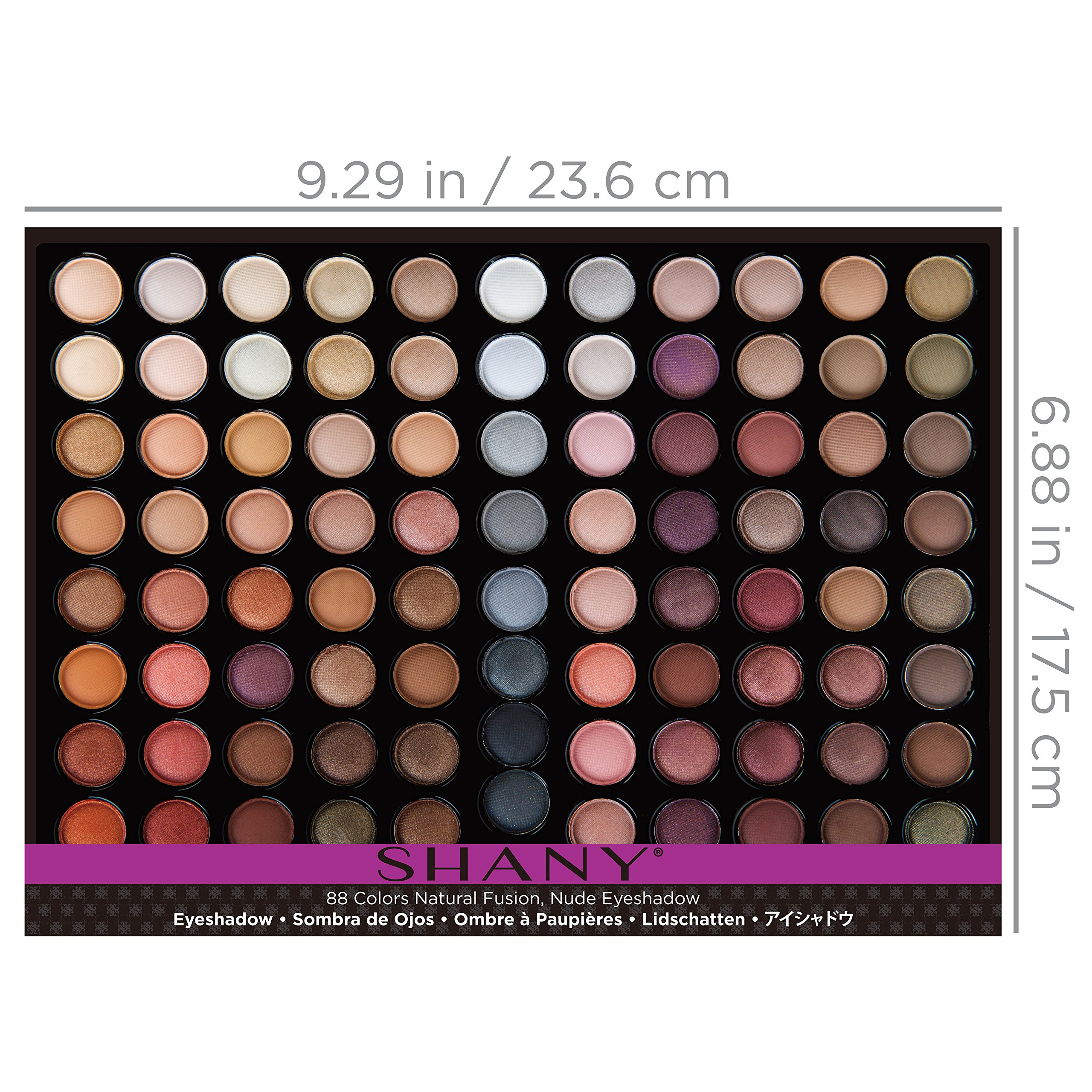 SHANY Natural Fusion Eyeshadow Palette (88 Color Eyeshadow Palette, Nude Palette), 2.15 Ounce by SHANY Cosmetics (Image #5)