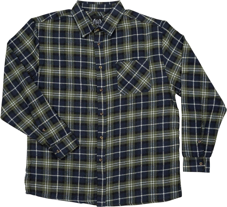 Roper Mens Black 100/% Cotton Unlined Flannel L//S Shirt