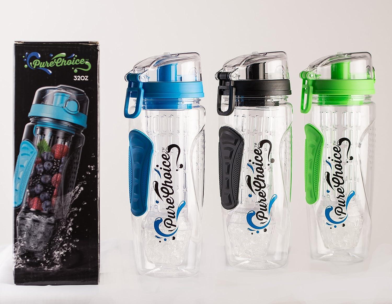 Pure elección 32 oz botella de agua con infusor de frutas - con ...