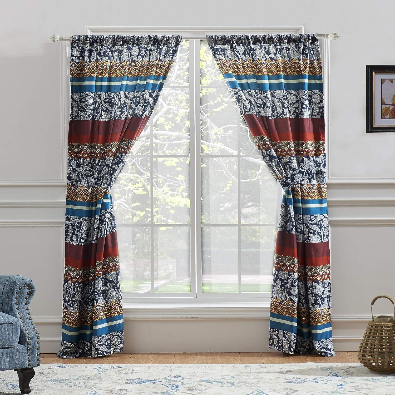 Barefoot Bungalow Vista Curtain 84-inch Long Multi