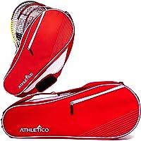 Athletico - Bolsa de tenis para 3 raquetas, acolchada para proteger las raquetas y ligeras, profesionales o…
