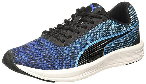 a5a8fb9f3c8727 Puma Men s Meteor 2 Blacknrgy Turquoise Running Shoes - 11 UK India (46 EU