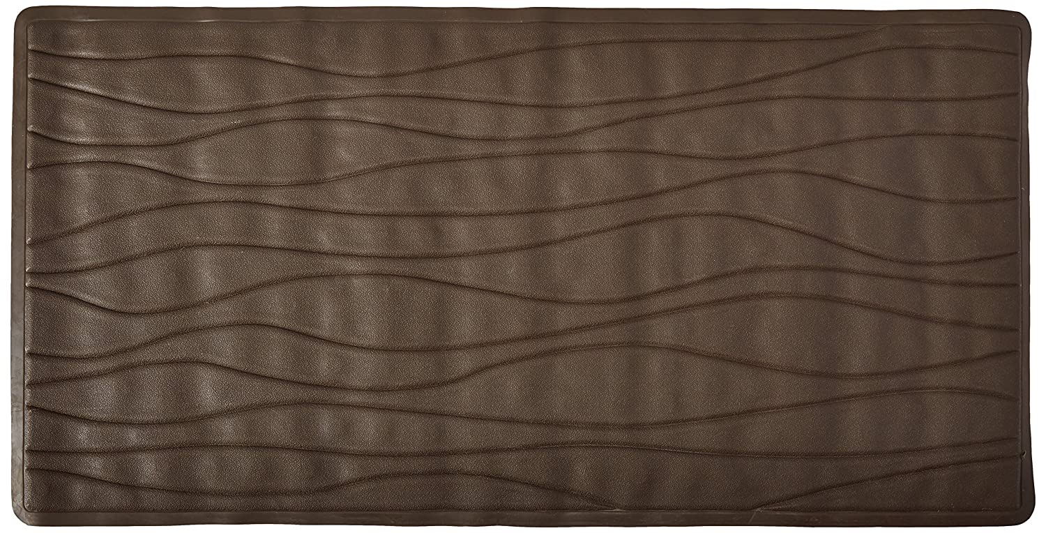 Carnation Home Fashions Large 18-Inch by 36-Inch Rubber Bath Tub Mats Brown