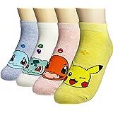 JJMax Mujer colección de animación japonesa calcetines Anime Pokemon Pikachu