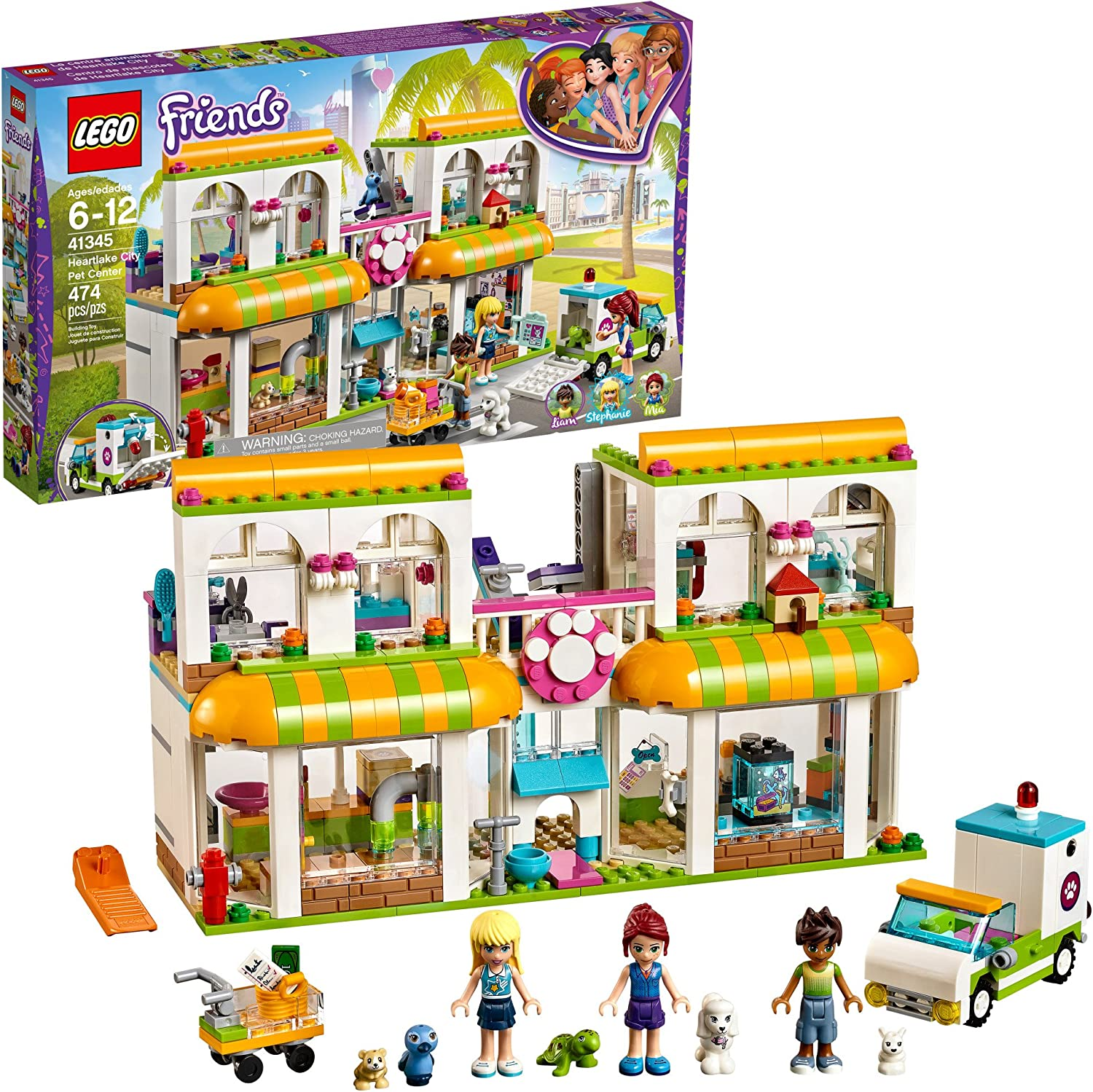 LEGO Friends Heartlake City Pet Center 41345 Building Kit (474 Pieces)