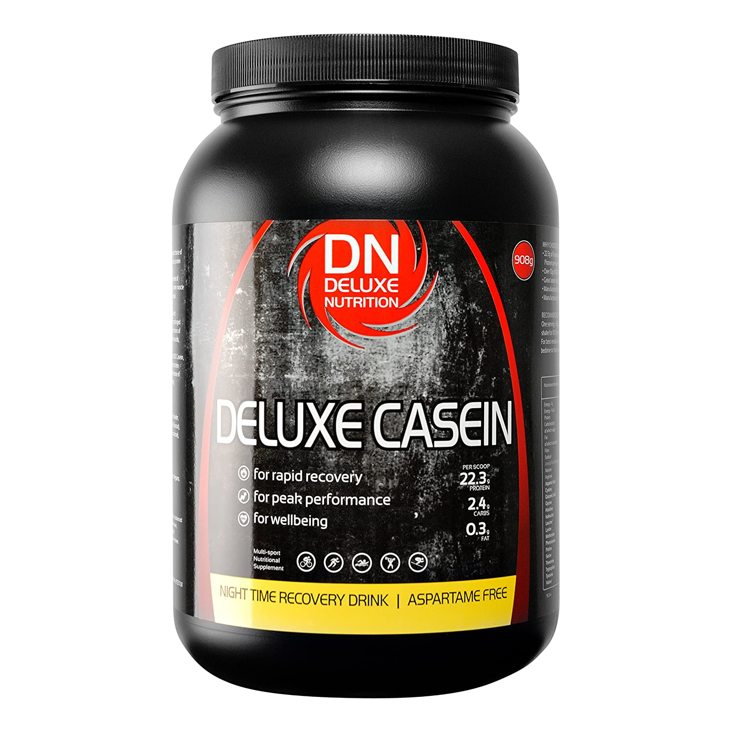Amazon.com: Deluxe Nutrition 908g Strawberry Micellar Casein Night Time Muscle Recovery Drink: Health & Personal Care