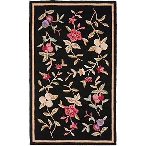 Safavieh Easy to Care Collection EZC410B Hand-Hooked Black Area Rug 6 x 9
