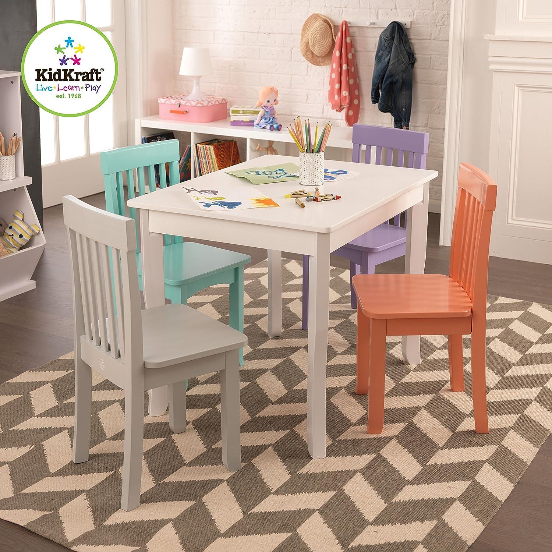 Kidkraft Petal Pink Kitchen Amazoncom Kidkraft Avalon Chair For Children Grey Fog Toys