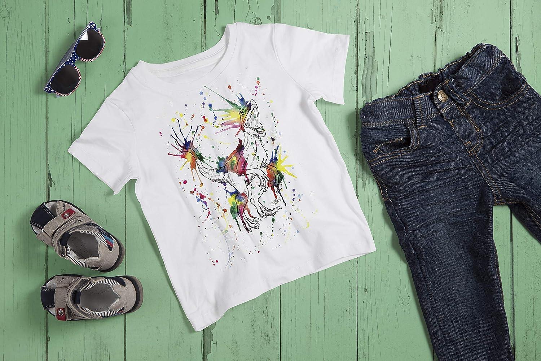 Kids Velicoraptor T-Shirt by Menagerie Of Mayhem Raptor Dinosaur Lover Tee Tshirt Top