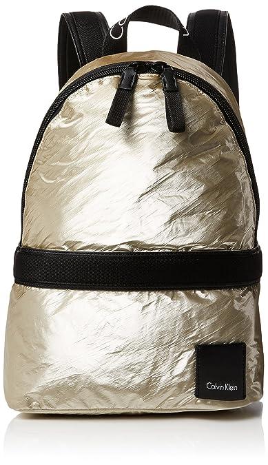 5e9b82f5904 Calvin Klein Fluid Backpack Metalic, Women's Backpack, Gold (Light Gold),  18x40x30