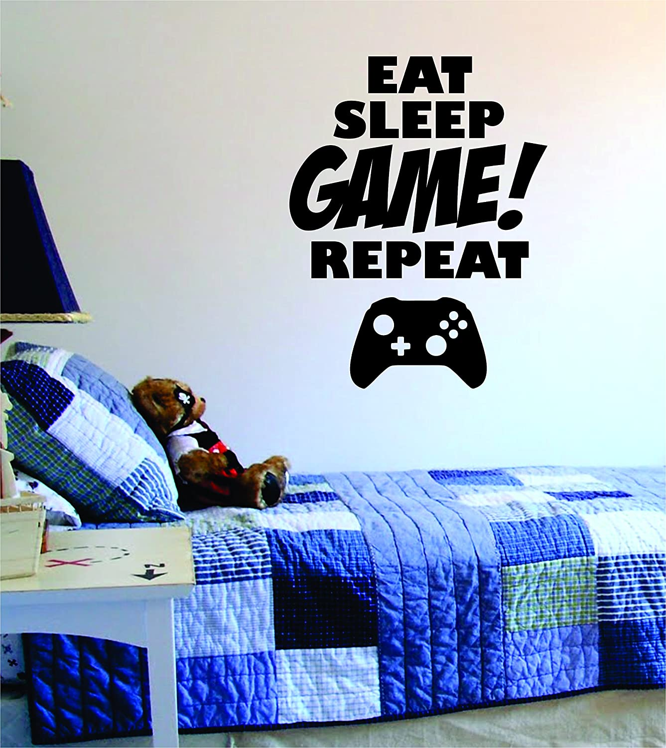 Amazon Eat Sleep Game Repeat Quote Decal Sticker Wall Vinyl Art