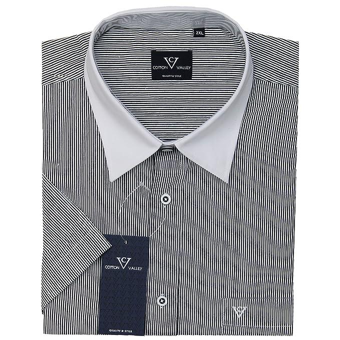 Cotton Valley Navy Green Check Short Sleeved Shirt ,Size 2XL-8XL 14297