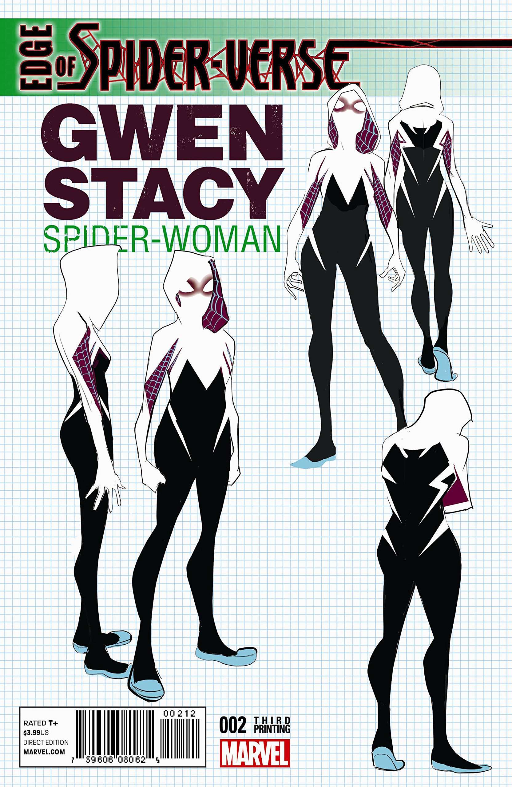 Edge of Spider-Verse #2 3rd Print Design Variant Gwen Stacy