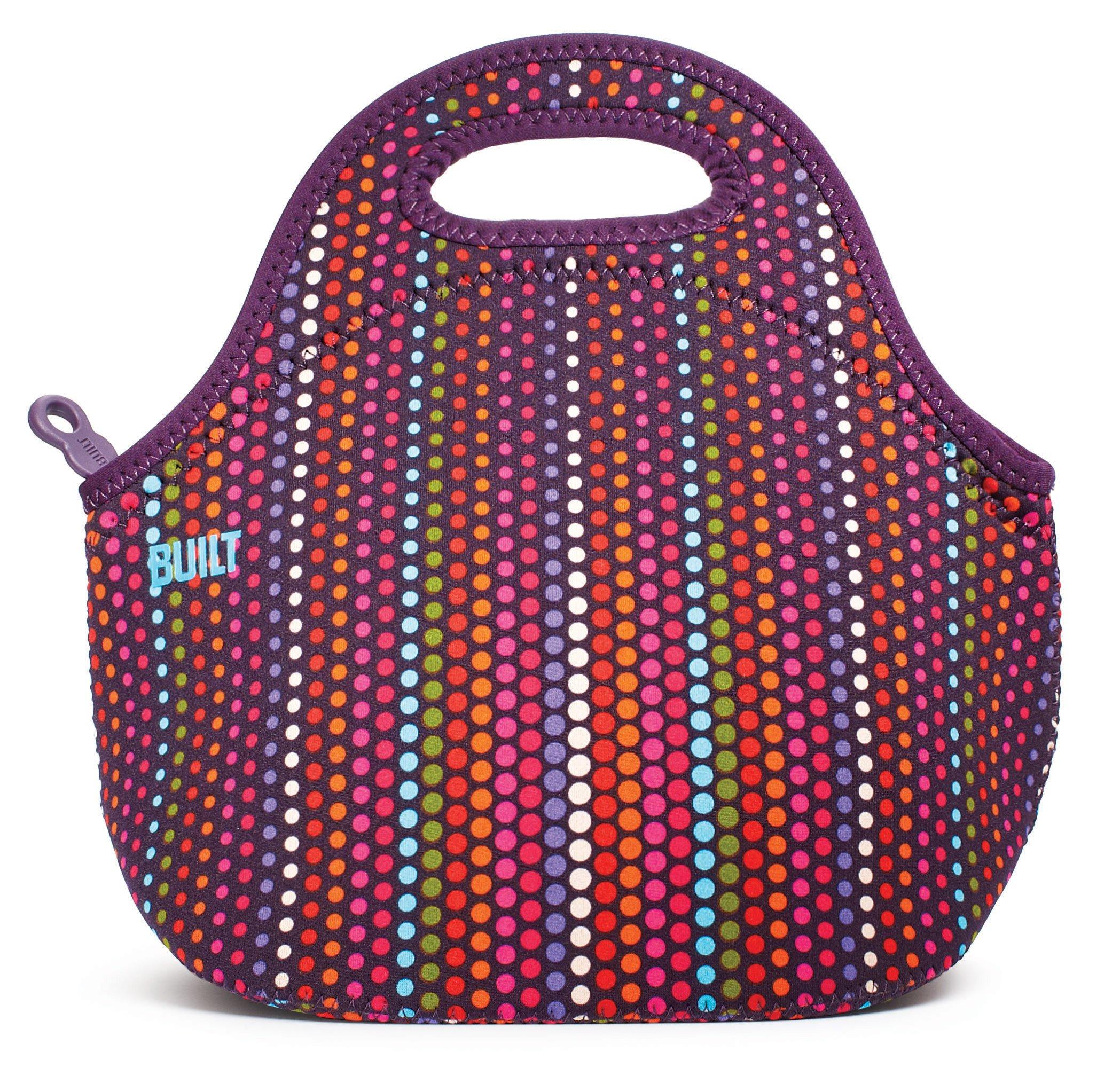 BUILT LB31-MDT Gourmet Getaway Soft Neoprene Lunch Tote Bag - Lightweight, Insulated and Reusable, Micro Dot