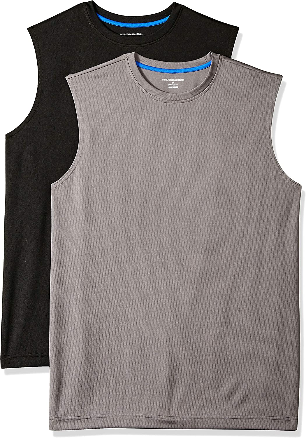 Amazon Essentials Men's 2-Pack Performance Tech Muscle Tank