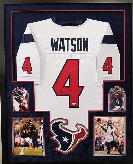 40d92b49 Deshaun Watson Houston Texans Autograph Signed Custom Framed Jersey ...