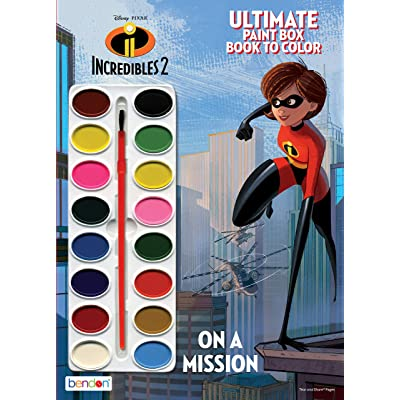 Disney Incredibles 2 Official Ultimate Paintbox, Multicolor: Toys & Games